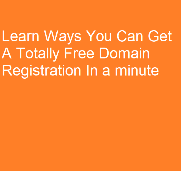 Totally Free Domain Registration In a minute