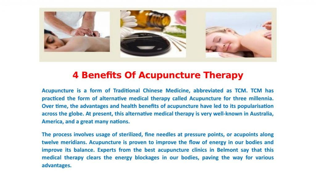 Benefits of Acupuncture Therapy